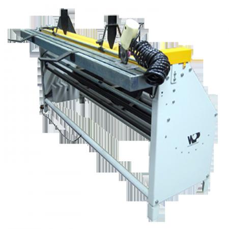 Máquina enrolar medir tecidos